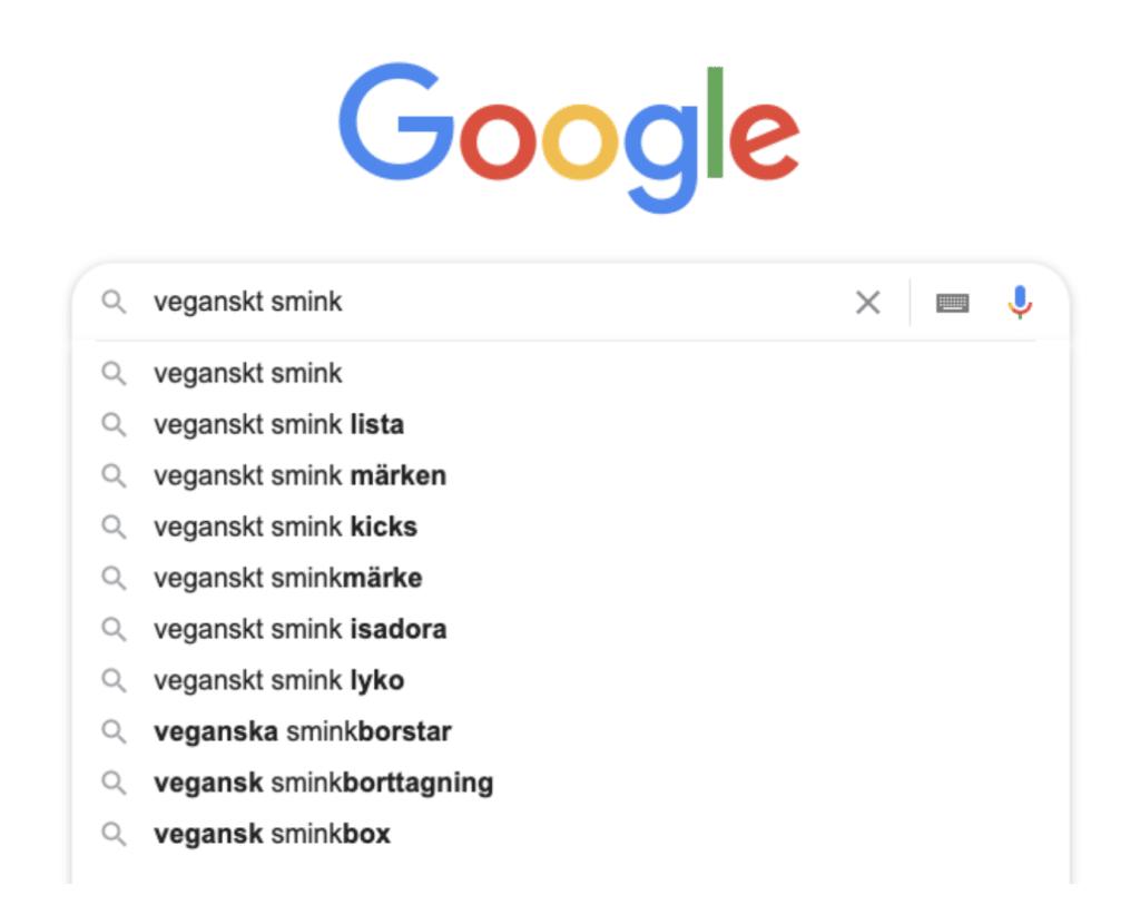veganskt smink