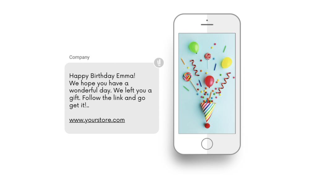 födelsedags meddelande sms